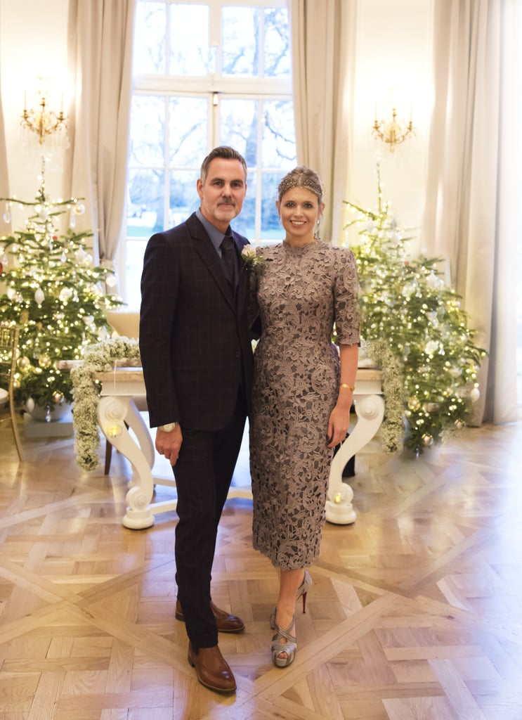 Jenny Packham married Matthew Anderson in a lace guipure dress that ...
