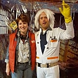 Marty McFly and Dr. Emmett Brown From Back to the Future