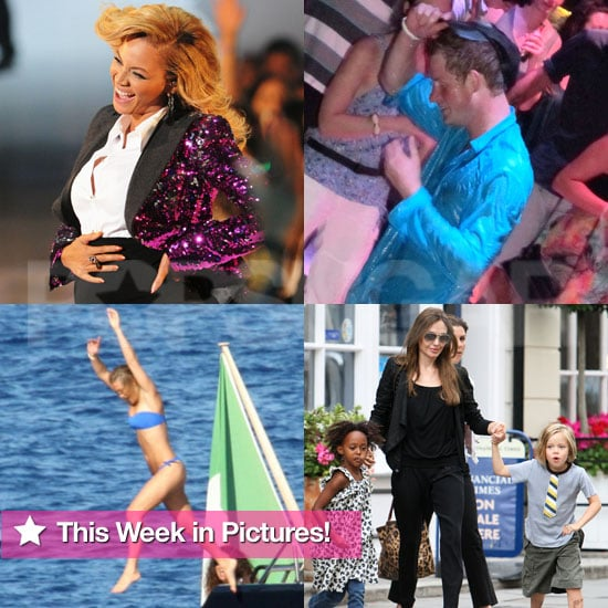 Beyoncé Pregnant, Jolie-Pitts in London, Bar's Bikini, and More in This Week in Pictures!