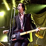 Nick Cave kept the crowds entertained on day one.