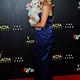 Lucy Durack brought her dog on the red carpet.