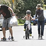 Naomi Watts and Liev Schreiber had a family outing in Brentwood.