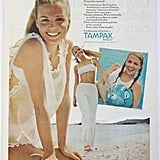 Introducing white fitness wear . . . the indelible tampon-ad image of the latter half of the 20th century.