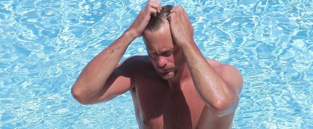 Alexander Skarsgard Could Easily Pass For a Swimsuit Model During His Sexy Pool Day