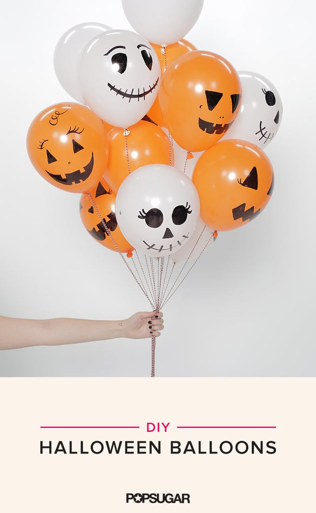 These DIY Halloween Balloons Are So Easy, It's Scary