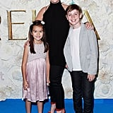 Rebecca Gibney with her son Zach and a friend