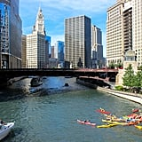 You can also paddle your way around the architecture by renting a kayak! Kayak Chicago offers affordably priced tours along the Chicago River, allowing you to get on the water and experience the buildings from a different perspective.