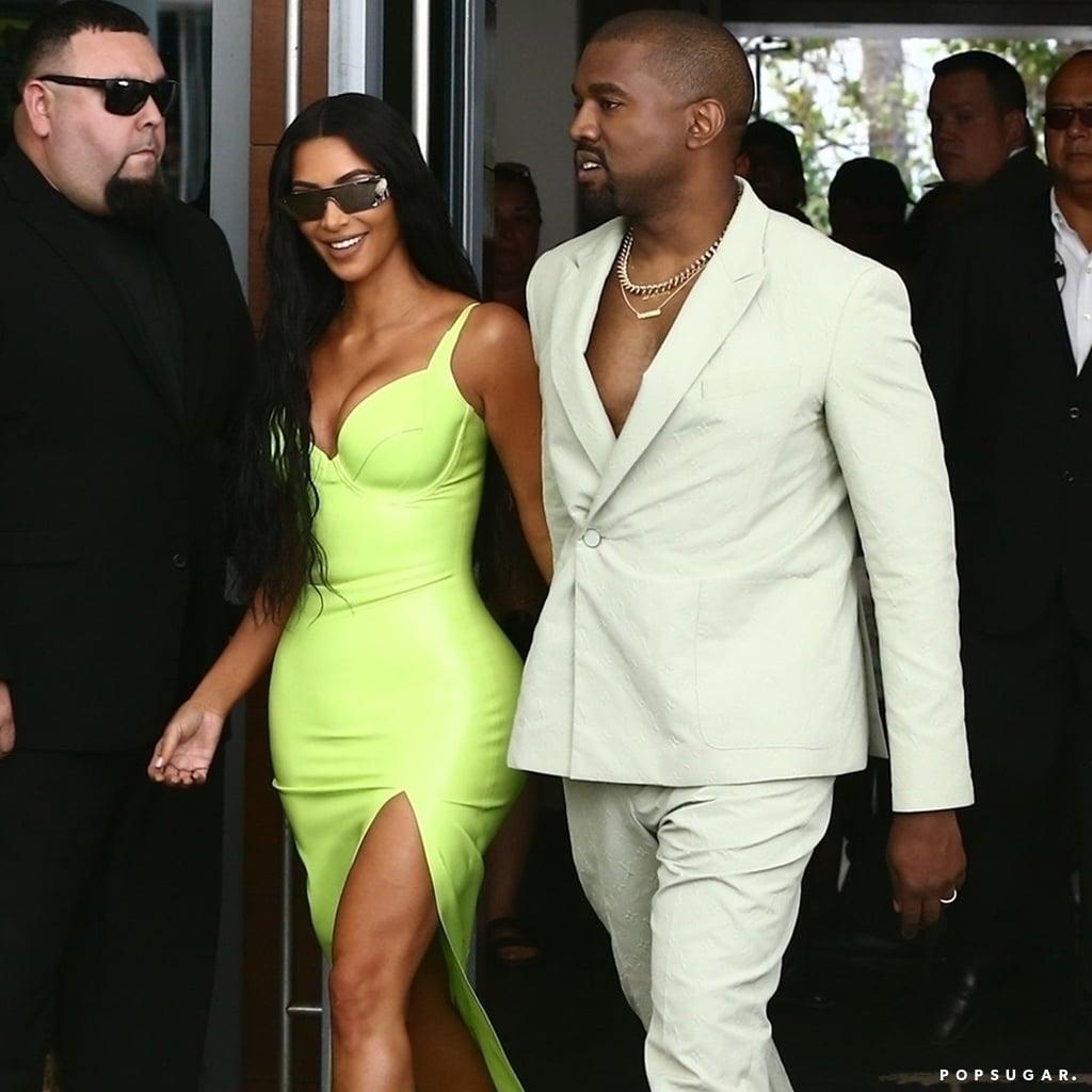 477331f26eb7f Kanye West Wearing Yeezy Slides to 2 Chainz s Wedding