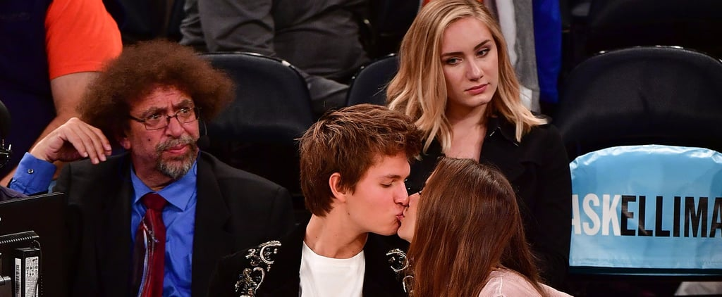 Ansel Elgort and His Girlfriend Continue Their Tradition of Making Out at Basketball Games