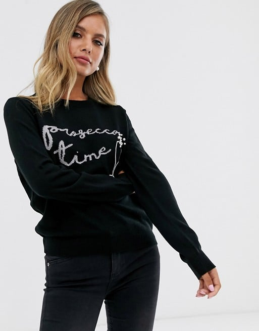 ASOS Design Christmas Prosecco Jumper