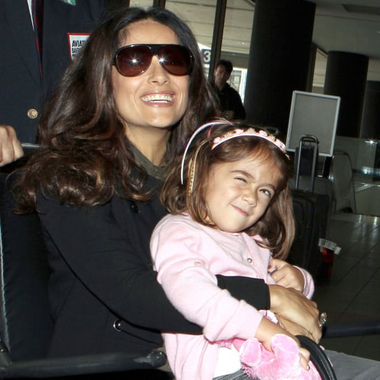 Salma Hayek and Valentina in Wheelchair at LAX Pictures