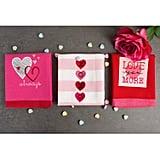 Embroidered Hearts Dishtowel Set