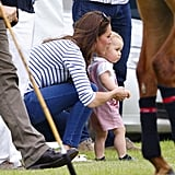 When She Showed George the Ropes at a June 2014 Polo Match
