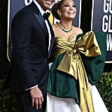 Alex Rodriguez and Jennifer Lopez at the 2020 Golden Globes