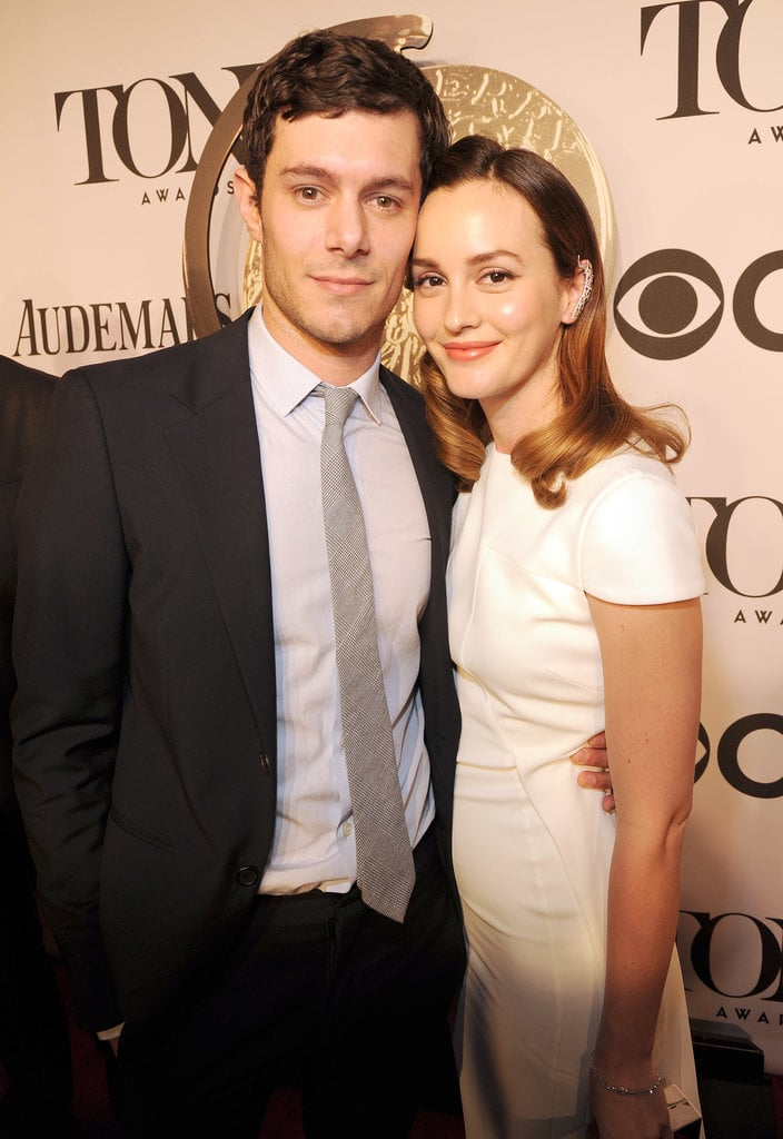 Leighton Meester and Adam Brody made a sweet red carpet debut at the Tony Awards on Sunday in NYC.