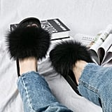 NewYouDirect Fox Fur Slides