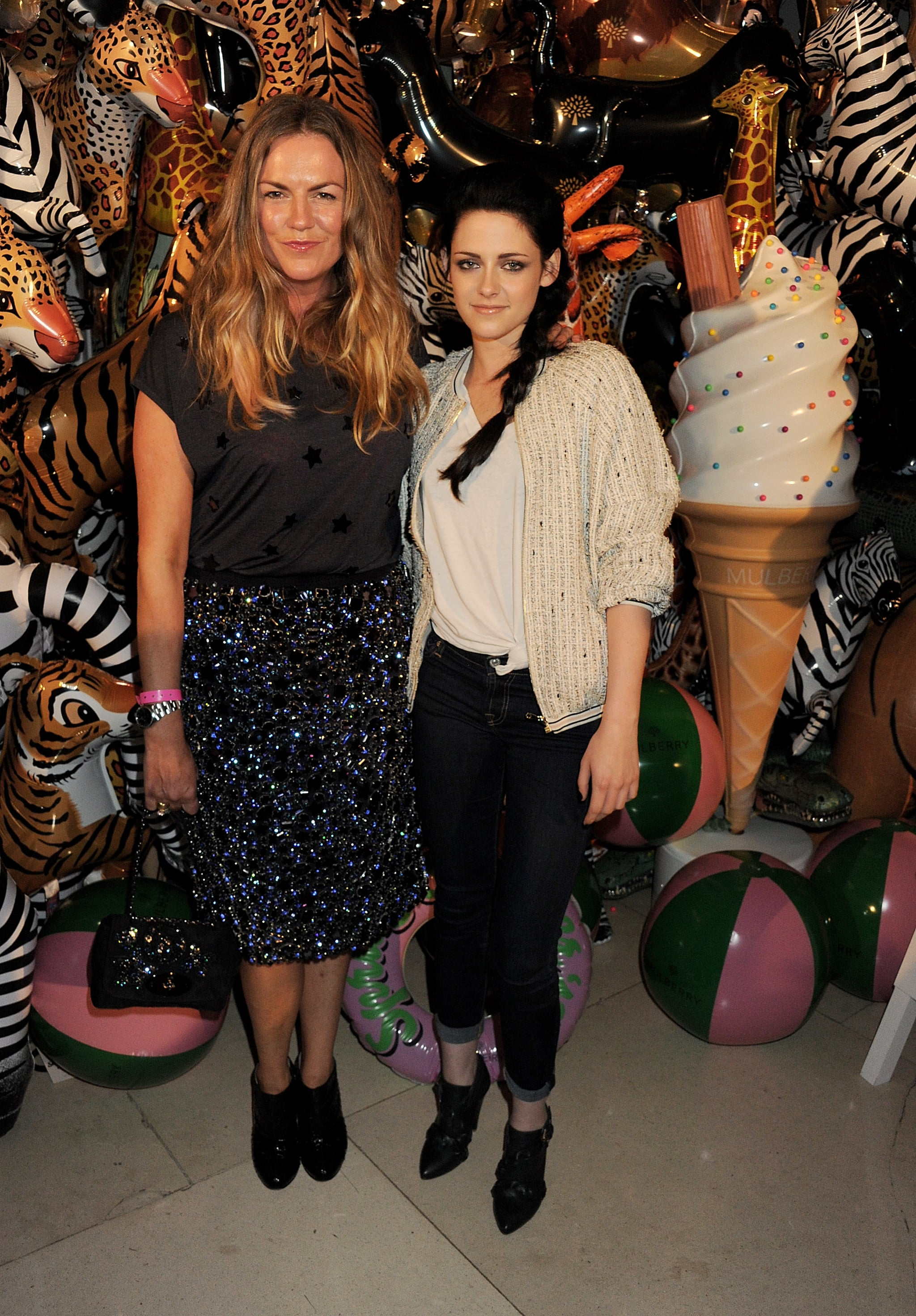 Kristen Stewart and Emma Hill in London.