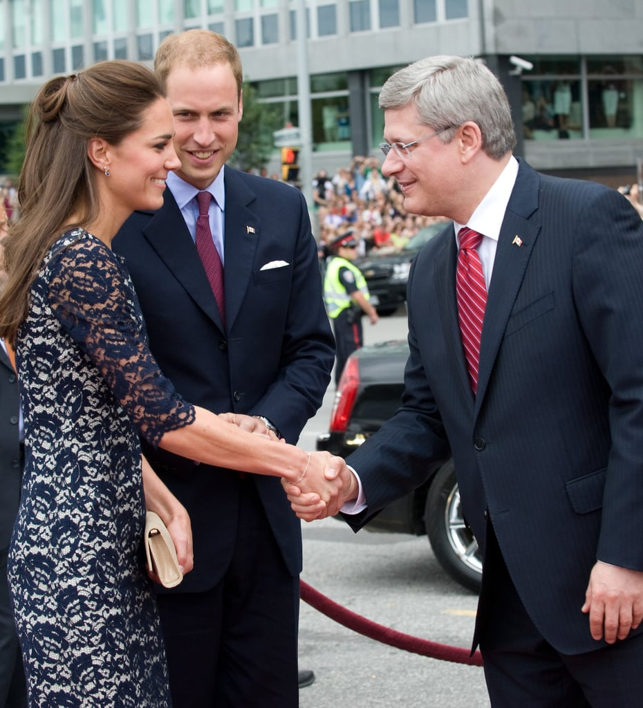 Prince William and Kate Middleton were greeted in Canada.