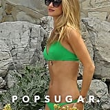 Rosie Huntington-Whiteley sported a green bikini in the South of France in June.