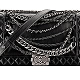 Chanel Black Leather Boy Chanel Bag With Chains Photo courtesy of Chanel