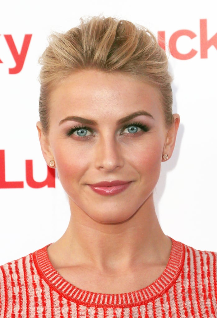 Giving your up 'do volume in the front, like Julianne Hough did here, allows your pretty makeup to shine.