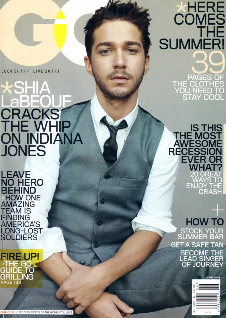 Shia steamed up the cover of GQ in June 2008.