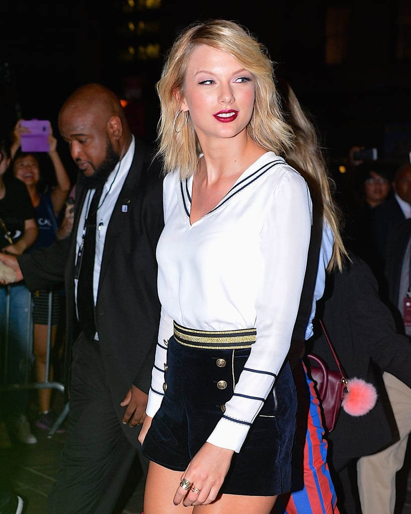 067fe6e9 Taylor Swift at Tommy Hilfiger's Fashion Show in NYC 2016 | POPSUGAR  Celebrity