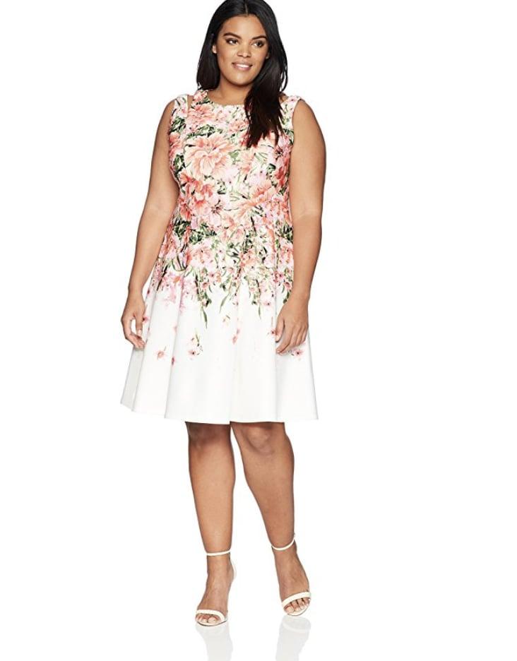 Gabby Skye Womens Sleeveless Cut Out Shoulder Dress Plus Size