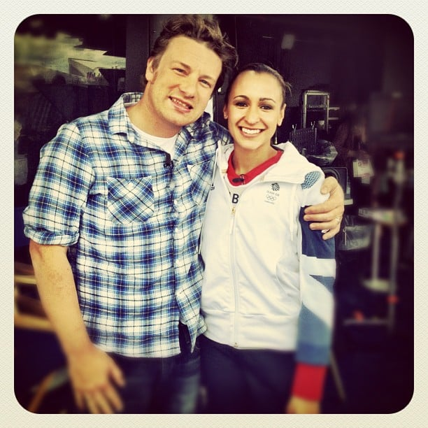 Jamie Oliver got to meet Olympic track and field athlete Jessica Ennis. Source: Instagram user jamieoliver