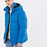Jack & Jones Core Puffer Coat in Drop Shoulder Fit