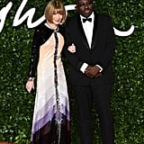 Anna Wintour and Edward Enninful at the British Fashion Awards 2019
