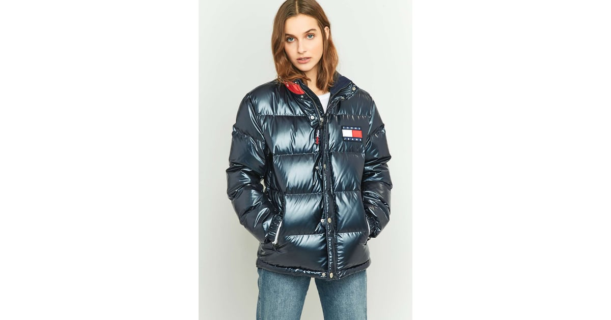tommy hilfiger 39 90s down navy puffer jacket. Black Bedroom Furniture Sets. Home Design Ideas