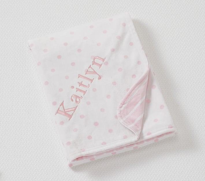 Dot & Stripe Chamois Baby Blanket