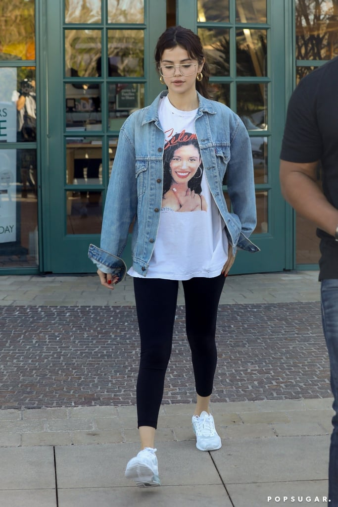 Selena Gomez Wearing Justin Biebers Glasses