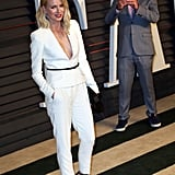 Naomi Watts had her photographer brother Ben by her side at the Vanity Fair Oscars afterparty.