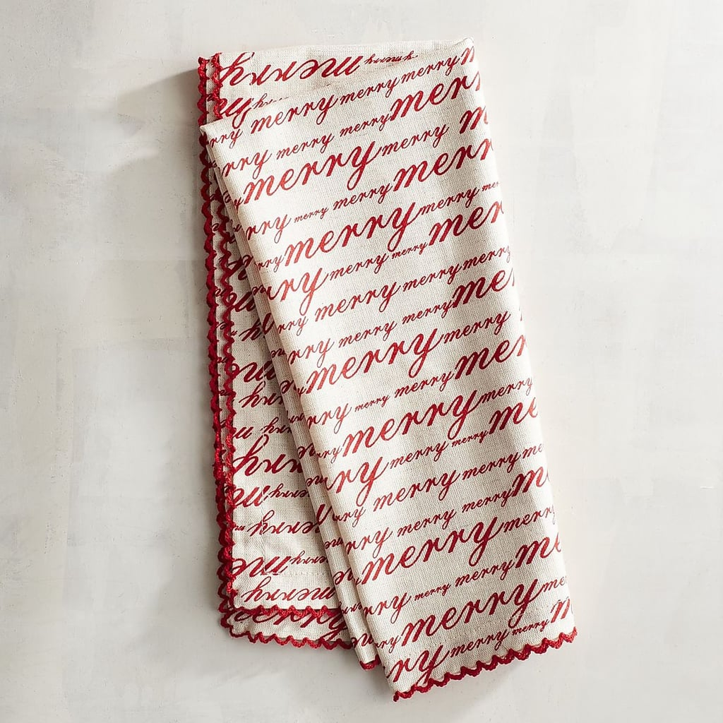 Red Merry Script Napkin ($4, originally $5)