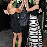 Sarah Hyland and Ariel Winter had a cute moment with their onscreen brother, Nolan Gould.