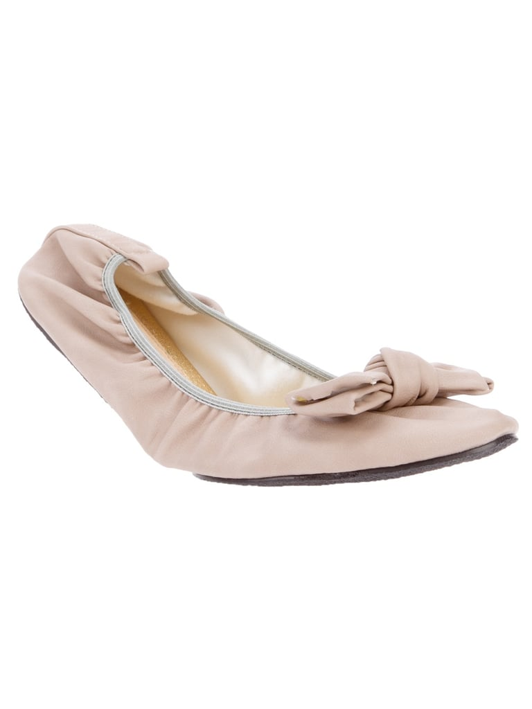 For the girlie girl, this bow-tie pair reminds us of the sweet versions we used to wear in ballet class. Cocorose London Fold-Up Ballerina Pump ($105)