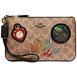 Coach Coated Canvas Signature Wizard of Oz Small Wristlet