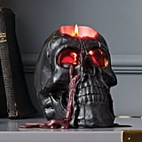 Hyde and Eek! Boutique Halloween Bleeding Black Skull Candle