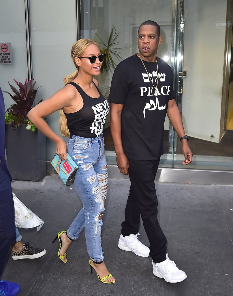 For a day out in 2015, both brought their graphic tees.