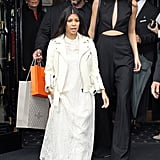 Kourtney Kardashian joined Kendall and Kris Jenner for the event.