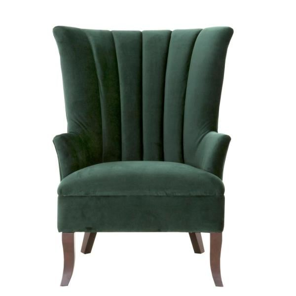 Home Decorators Collection Carlotta Emerald Velvet Club Chair