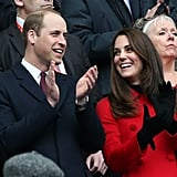 Kate and William had heart eyes for each other when they attended a rugby match between France and Wales in the City of Lights in March.