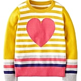 Trade in wearing your heart on your sleeve to across your chest instead with Mini Boden's striped cotton sweater ($54).