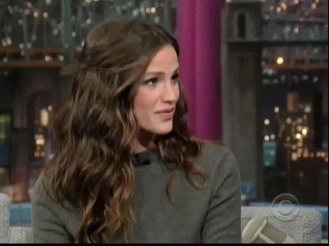 Video: Jennifer Garner on David Letterman Talking Russell Brand