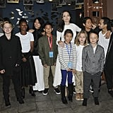 Angelina celebrated the premiere of First They Killed My Father with the cast and all six of her kids in September 2017.