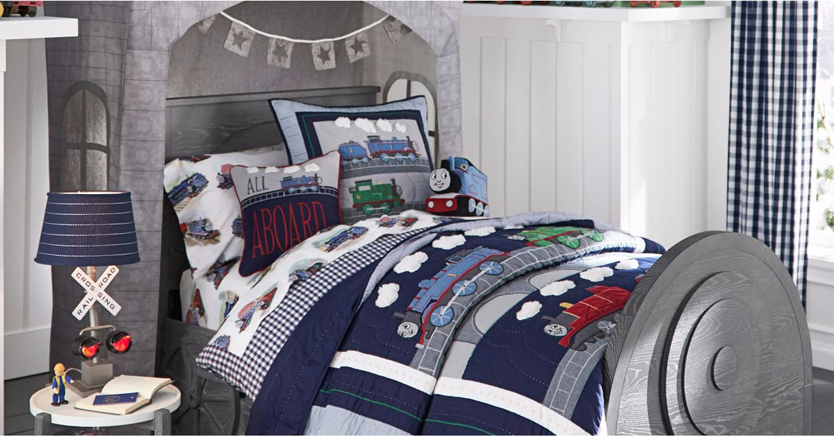 thomas and friends pottery barn kids collection fall 2017. Black Bedroom Furniture Sets. Home Design Ideas