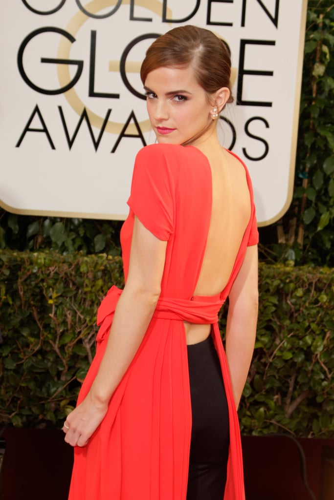 Emma Watson Turns Heads in Red at the Globes
