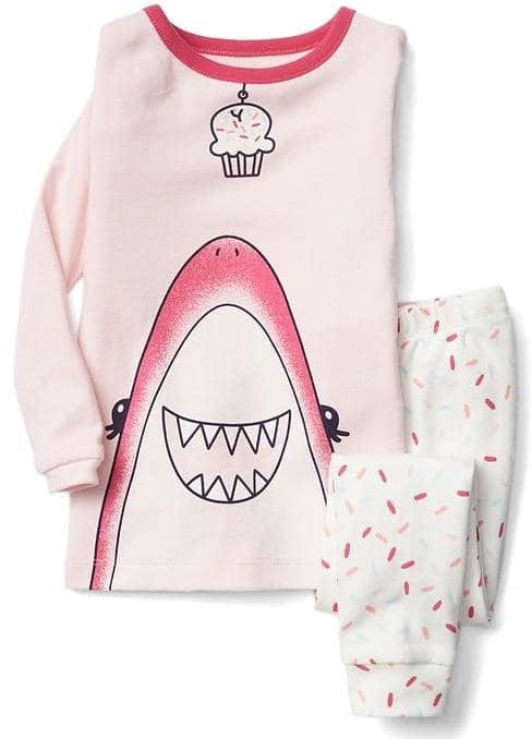 Cupcake Shark Sleep Set